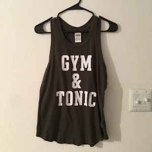 Love pink gym and tonic workout tank